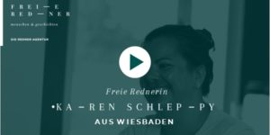 Freie Rednerin Karen Schleppy