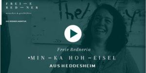 Freie Rednerin Mina Hoheisel