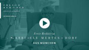 Die Freie Rednerin Gabriele Mertesdorf aus München stellt sich vor
