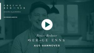 Der Freie Redner Serge Enns aus Hannover stellt sich vor