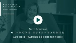 Die Freie Rednerin Simone Nussbauner auf einer Freien Trauung in Reichraming Oberösterreich