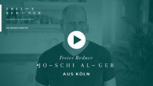 Der Freie Redner Joschi Alger aus Köln stellt sich vor