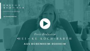 Freie Rednerin Heike Koch Bobenheim Freie Trauung Video