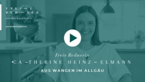 Die Freie Rednerin Catherine Heinzelmann aus Wangen im Allgäu stellt sich vor