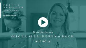 Freie Rednerin Michaela Derenbach stellt sich vor