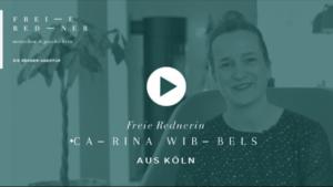Freie Rednerin Carina Wibbels aus Köln stellt sich vor