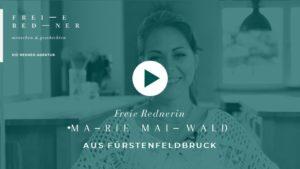 Die Freie Rednerin Marie Maiwald aus Fürstenfeldbruck stellt sich vor