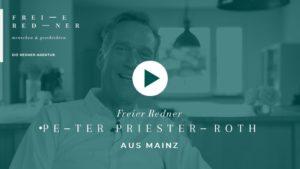 Der Freie Redner Peter Priesterroth aus Mainz stellt sich vor