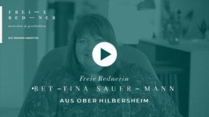 Freie Rednerin Bettina Sauermann aus Ober Hilbersheim stellt sich vor