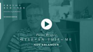 Der Freie Redner Stefan Thieme aus Erlangen stellt sich vor