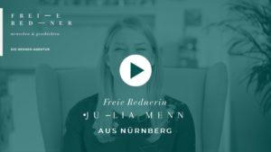 Die Freie Rednerin Julia Menn aus Nürnberg stellt sich vor