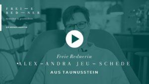 Die Freie Rednerin Alexandra Jeuschede aus Taunusstein stellt sich vor