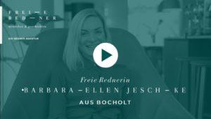 Die Freie Rednerin Barbara-Ellen Jeschke aus Bocholt stellt sich vor