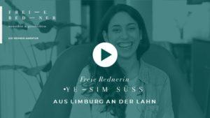 Die Freie Rednerin Yesim Süss aus Limburg stellt sich vor
