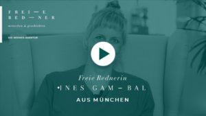 Die Freie Rednerin Ines Gambal aus München stellt sich vor