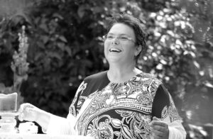 Die Freie Rednerin Karin Friedle-Unger auf einer Freien Trauung in Langenburg