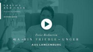 Die Freie Rednerin Karin-Friedle-Unger aus Langenburg stellt sich vor