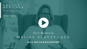 Die Freie Rednerin Meike Schüttkus aus Neckargemünd stellt sich vor